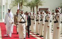 Daawo Sawirada :- Qaabkii Raysal Wasaaraha Dalka Itoobiya Loogu Soo Dhaweeyey Dalka Qatar .