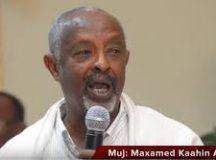Wasiirka Arrimaha Gudaha Somaliland Maxamed Kaahin ayaa mumnuucay in la qabto mooshinno xilka lagaga qaadaayo maayirada