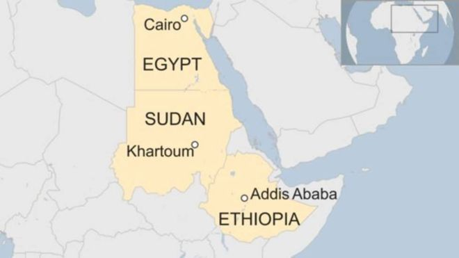 Wadahadalladii Sudan, Masar iyo Itoobiya ee Wabiga Nile oo Bur buray