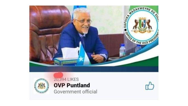 Madaxweyne Ku Xigeen Puntland Oo Boggii Uu Ku Lahaa Facebook Hawada Laga Saaray